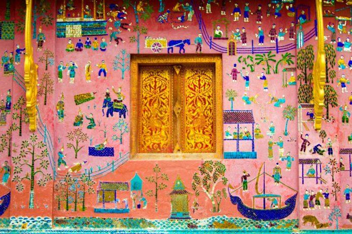Mural Wat Xieng Thong