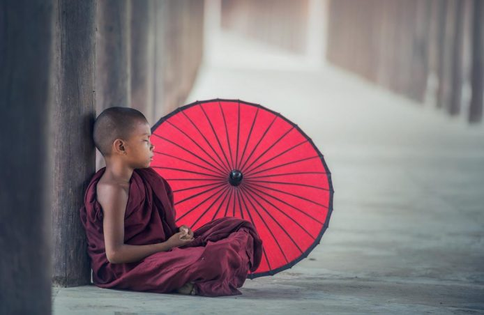 La vida de un novicio en un templo budista