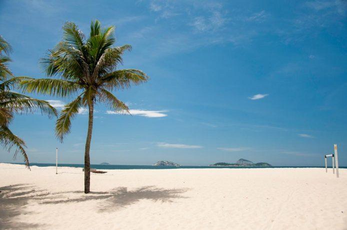 La playa de Leblon en Rio de Janeiro