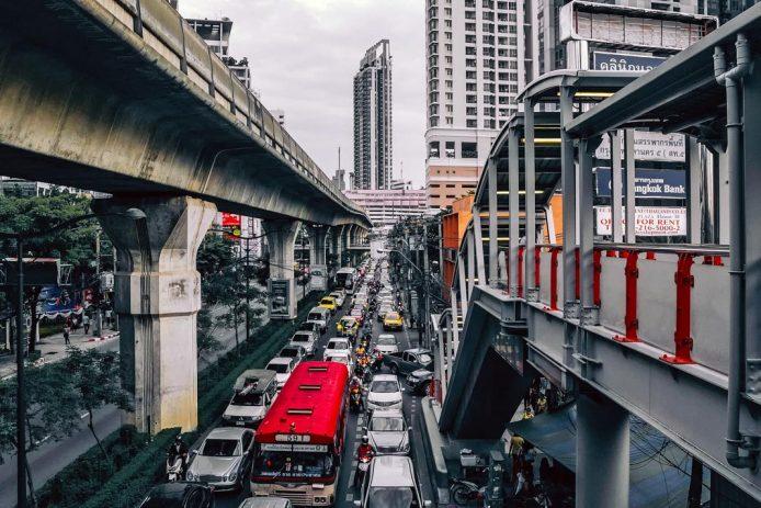 Moverse en Bangkok Skytrain