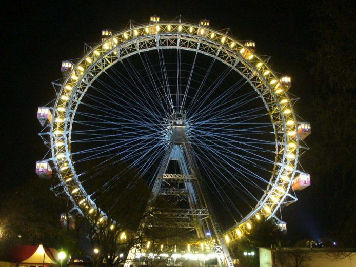 Parque de atracciones Prater en Viena
