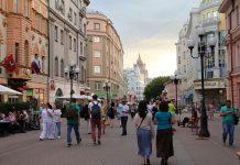 Barrio viejo Arbat en Moscú