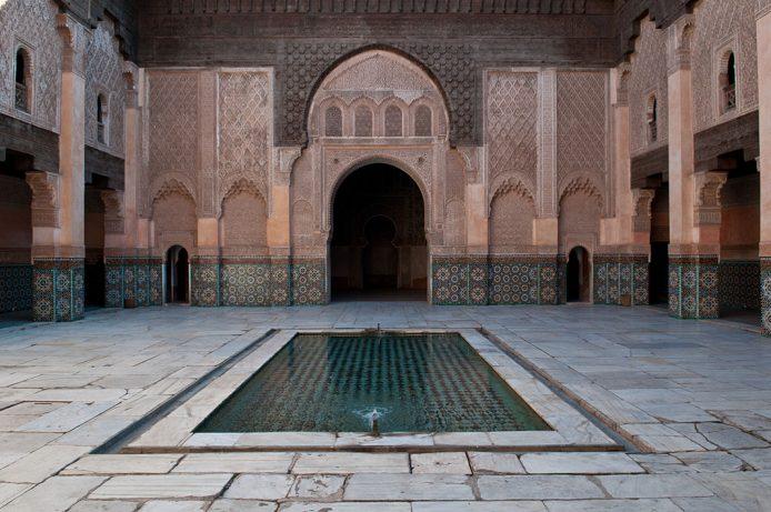 la medersa más grande e importante de todo Marruecos, Ben Youssef en Marrakesh