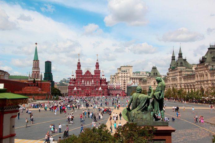 Primer día en Moscú, la plaza roja de Moscú