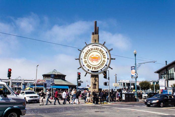El puerto viejo Fisherman's Wharf de San Francisco
