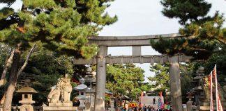 El santuario Sumiyoshi Taisha