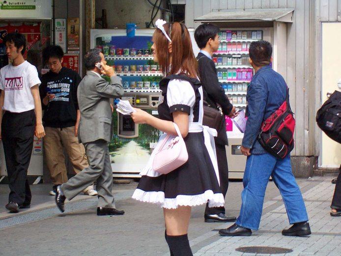 Maid Café en Akihabara, Japón