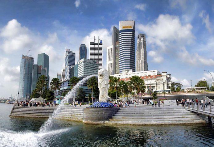 Visitar en Singapore el Merlion