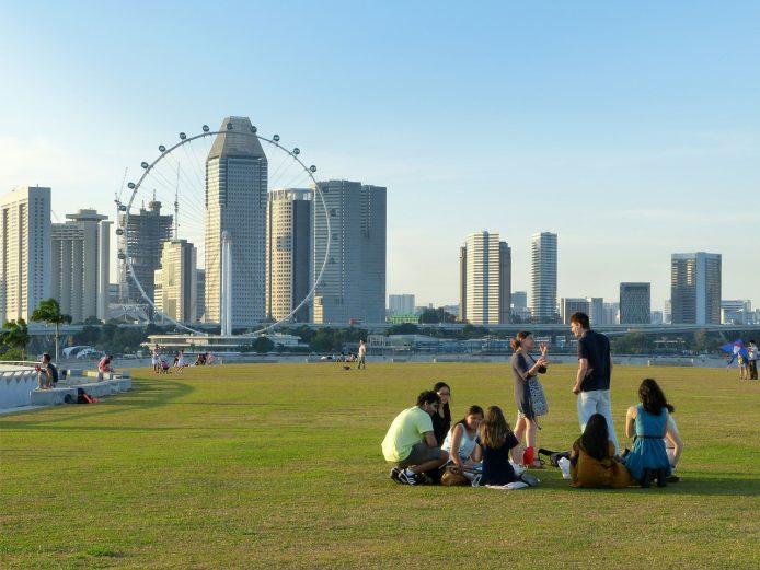 Subir a la Noria de Singapur
