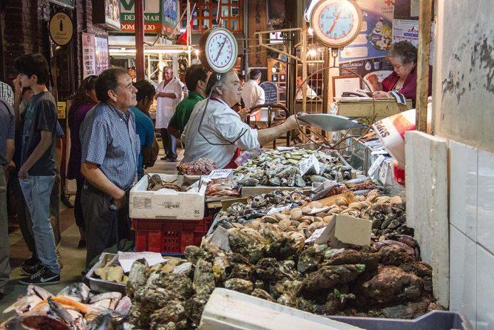 De compras por el Mercado Central