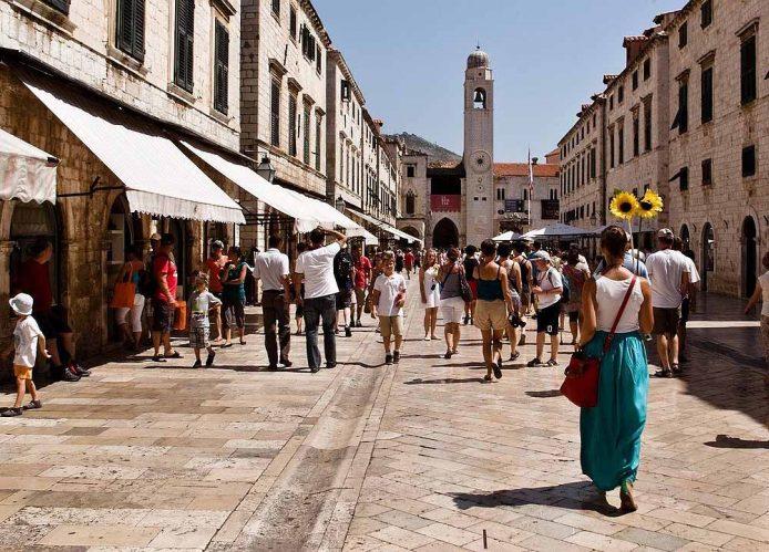 La calle Stradun en Dubrovnik