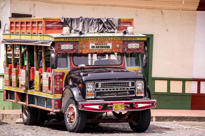 Moverse por Bogotá en Chiva, Colombia