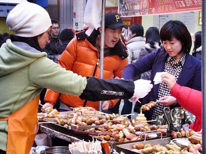 Comer en Seúl