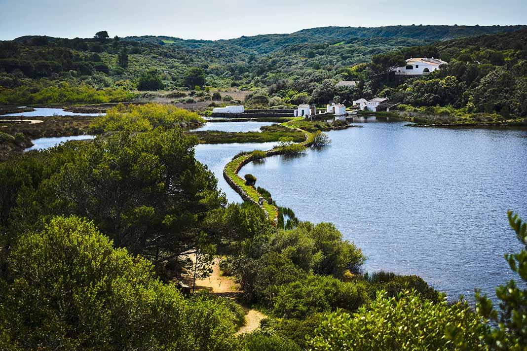 Pasear por el Parque Natural de S'albufera d'es Grau, Menorca