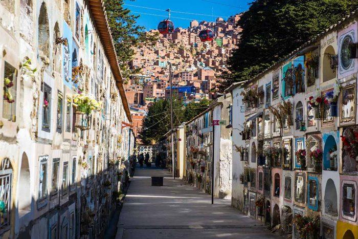 Visitar en La Paz el cementerio