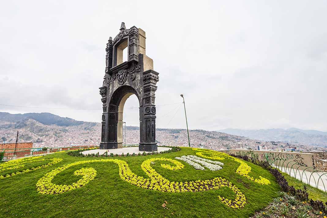 Subir al mirado de Killi Killi en La Paz, Bolivia