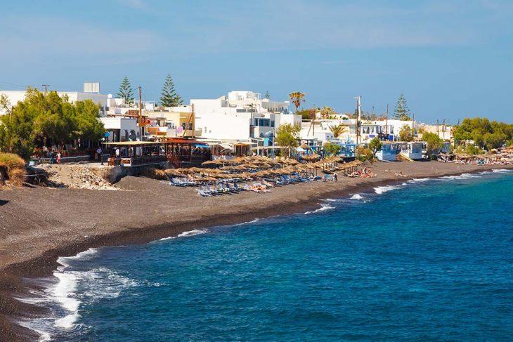 Dónde dormir en Santorini: Kamari