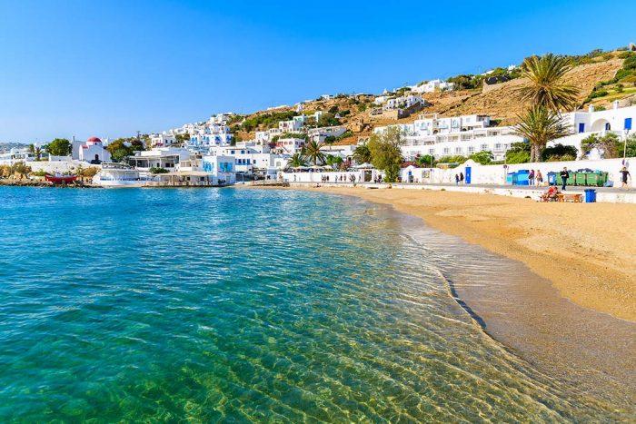 Dónde dormir en Mykonos: Paradise Beach
