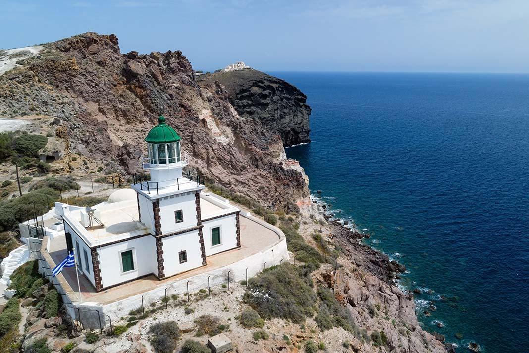 Sube al faro de Akrotiri, Santorini: Grecia
