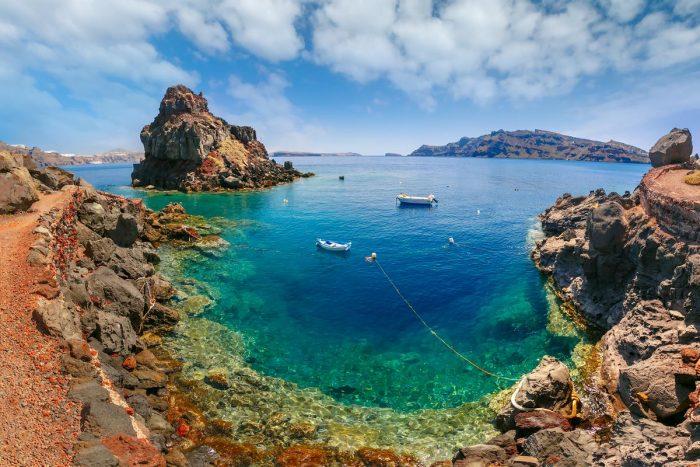 Playas de Santorini: Bahía de Amoudi