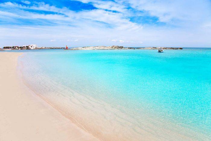 La Playa d'es Pujols en Formentera