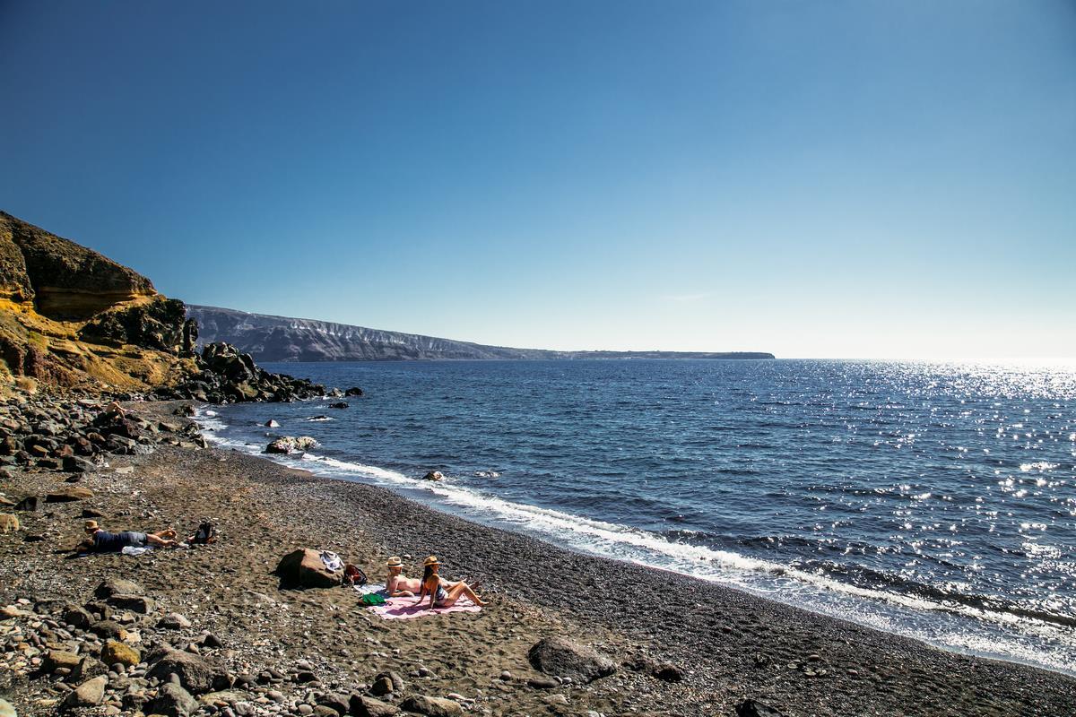 Playa de Katharos, Santorini