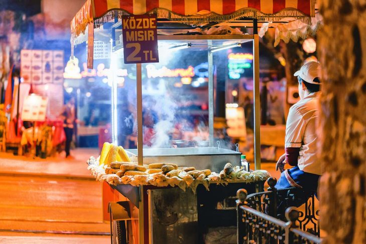 La comida callejera en Estambul