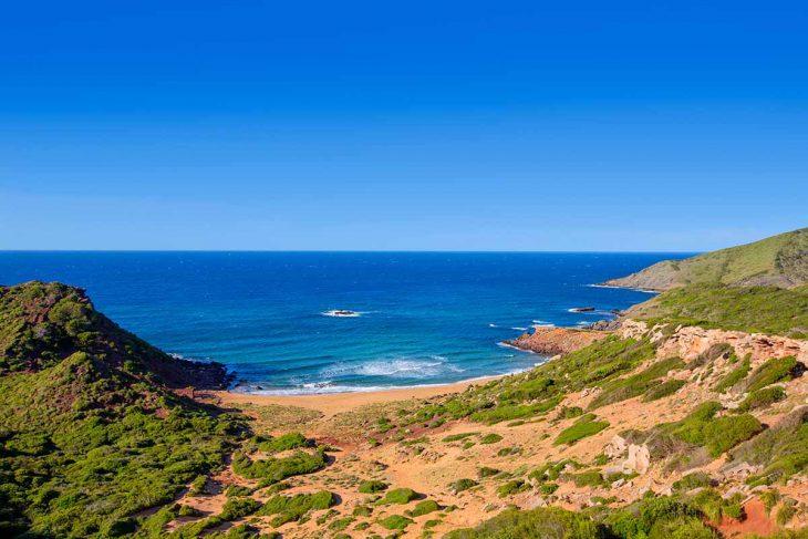 Cala Pilar una de las mejores playas vigenes de Menorca