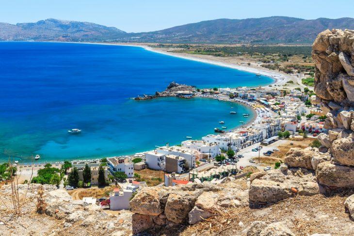 Haraki, buena zona de playa donde dormir en Rodas