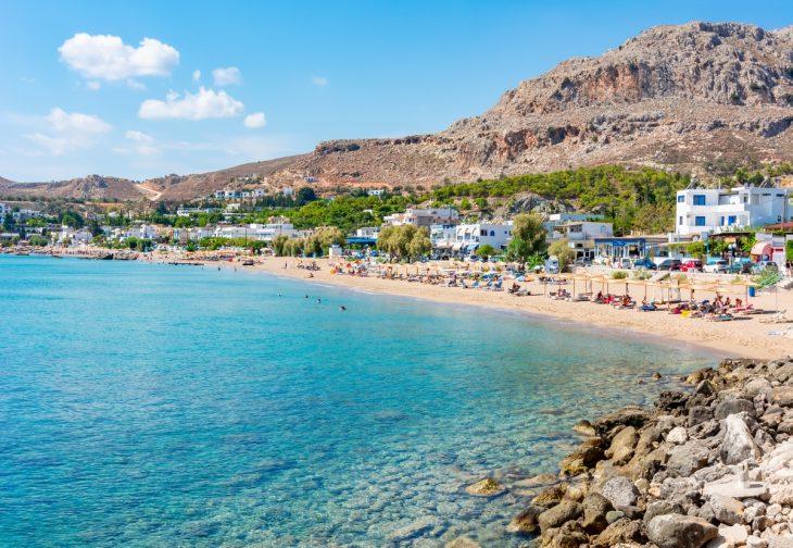 Stegna, la zona de playa de Archangelos