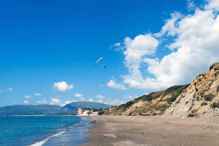 Kalamaki, una buena zona de playa donde alojarse en Zakynthos