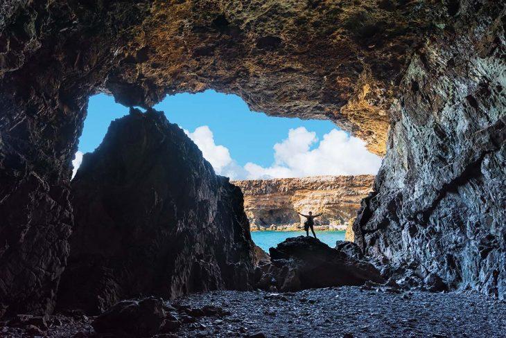 Explorar la zona de las Cuevas de Ajuy, Fuerteventura