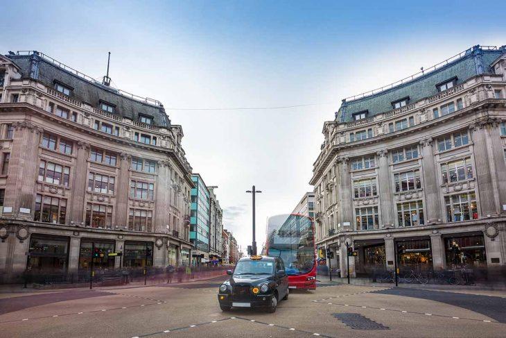 Oxford Street, una de las calles más comerciales de Londres