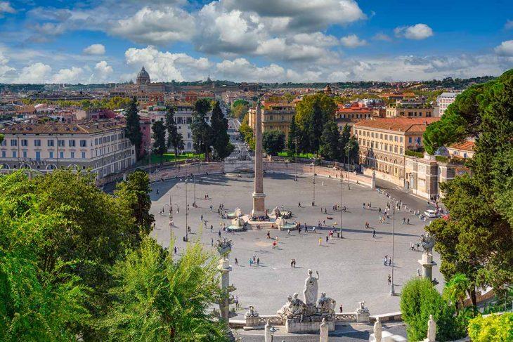Piazza de Popolo, Roma